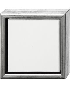 ArtistLine Canvas met lijst, afm 19x19 cm, antiek zilver, wit, 1 stuk