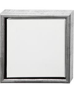 ArtistLine Canvas met lijst, afm 24x24 cm, 360 gr, antiek zilver, wit, 1 stuk