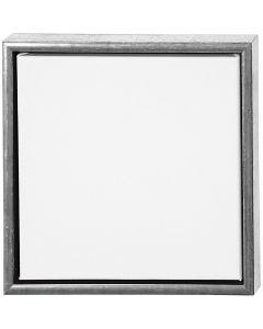 ArtistLine Canvas met lijst, diepte 3 cm, afm 34x34 cm, wit, antiek zilver, 1 stuk