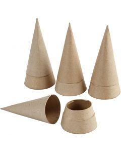 Kegel doos, H: 13 cm, d: 6,5 cm, 4 stuk/ 1 doos