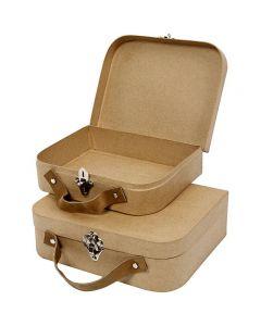 Koffers, afm 25,5x20x8 cm, 2 stuk/ 1 set