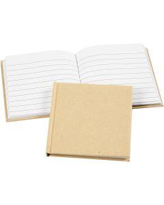 Notitieboek, afm 10x10 cm, 60 gr, bruin, 1 stuk