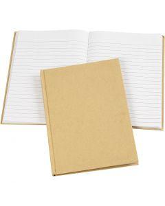Notitieboek, A5, 60 gr, bruin, 1 stuk