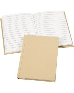 Notitieboek, A6, 60 gr, bruin, 1 stuk