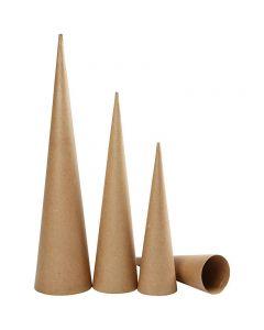 Hoge kegels, H: 30-40-50 cm, d: 8-9-11,5 cm, 3 stuk/ 1 doos