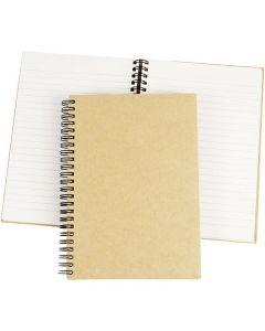 Spiraal gebonden notitieboek, A5, 60 gr, bruin, 1 stuk