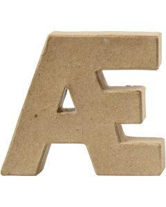 Letter, Æ , H: 10 cm, dikte 2 cm, 1 stuk