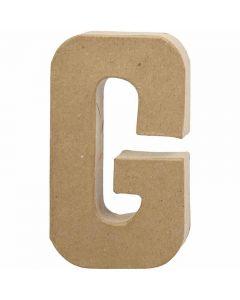 Letter, G, H: 20,5 cm, B: 11,5 cm, dikte 2,5 cm, 1 stuk
