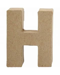 Letter, H, H: 10 cm, B: 7,6 cm, dikte 1,7 cm, 1 stuk
