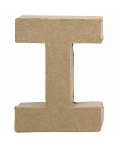 Letter, I, H: 10 cm, B: 7,5 cm, dikte 1,7 cm, 1 stuk
