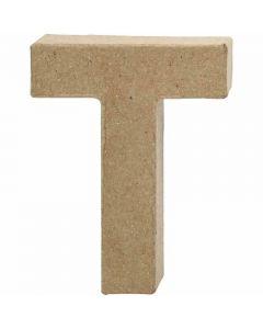 Letter, T, H: 10 cm, B: 7,8 cm, dikte 1,7 cm, 1 stuk