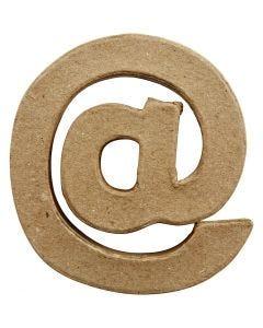 Teken, @, H: 10 cm, B: 9 cm, dikte 1,7 cm, 1 stuk