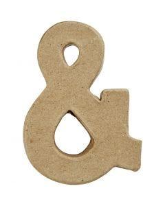 Teken, &, H: 10 cm, B: 7,5 cm, dikte 1,7 cm, 1 stuk