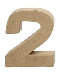 Cijfer, 2, H: 10 cm, B: 8,3 cm, dikte 1,7 cm, 1 stuk