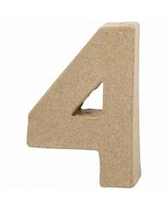 Cijfer, 4, H: 10 cm, B: 6,8 cm, dikte 1,7 cm, 1 stuk