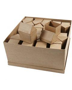 Huizen, H: 10,5 cm, afm 6x8,5 cm, 40 stuk/ 1 doos