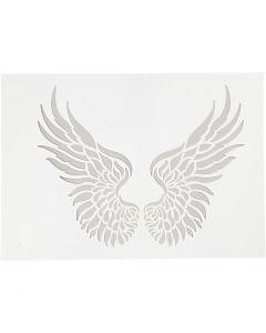 Flexibel sjabloon, vleugels, A4, 210x297 mm, 1 stuk