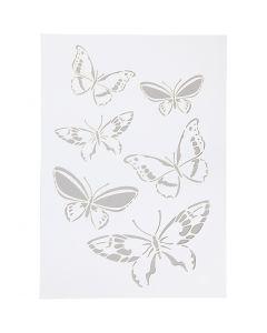 Flexibel sjabloon, vlinders, A4, 210x297 mm, 1 stuk
