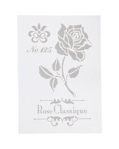Flexibel sjabloon, roos, A4, 210x297 mm, 1 stuk