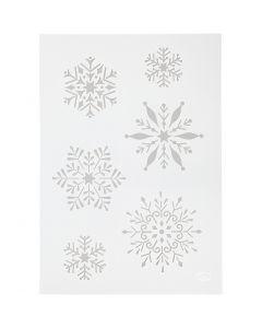 Flexibel sjabloon, sneeuwvlok, A4, 210x297 mm, 1 stuk