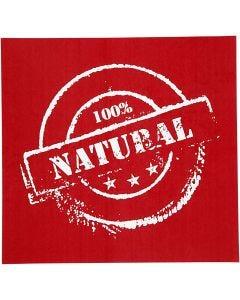 Screen stencil, 100% natural, 20x22 cm, 6 div vellen/ 1 doos