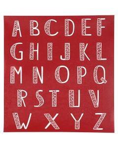 Screen stencil, alfabet, 20x22 cm, 1 vel