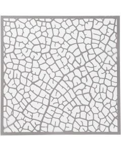 Sjabloon, blad, afm 30,5x30,5 cm, dikte 0,31 mm, 10 vel/ 1 doos