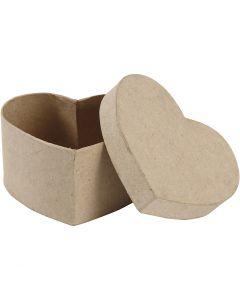 Hartvormige doos, H: 6 cm, afm 11,5x11,5 cm, 1 stuk