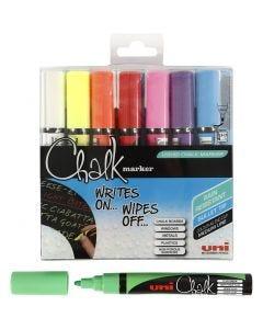 Chalk Marker, lijndikte 1,8-2,5 mm, 8 stuk/ 1 doos