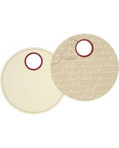 Labels, d: 9 cm, 300 gr, 20 stuk/ 1 doos