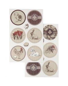 Stickers, 9x14 cm, 4 div vellen/ 1 doos