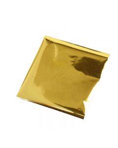 Lijmfolie, 10x10 cm, goud, 30 vel/ 1 doos