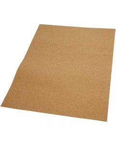 Kurk plaat, afm 35x45 cm, dikte 2 mm, 4 stuk/ 1 doos