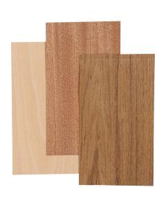 Bamboe fineer, 12x22 cm, dikte 0,75 mm, 3 vel/ 1 doos