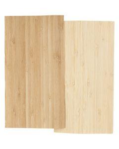 Bamboe fineer, 12x22 cm, dikte 0,75 mm, 2 vel/ 1 doos