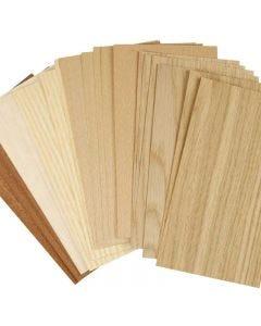 Bamboe fineer, 12x22 cm, dikte 0,75 mm, 30 div vellen/ 1 doos