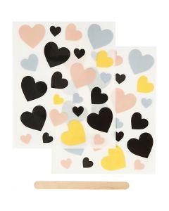 Rub-on Sticker , harten, 12,2x15,3 cm, 1 doos