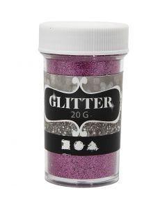 Glitter, H: 60 mm, d: 35 mm, roze, 20 gr/ 1 Doosje