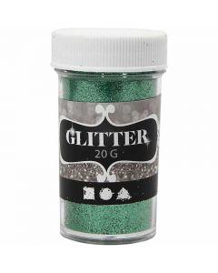Glitter, H: 60 mm, d: 35 mm, groen, 20 gr/ 1 Doosje