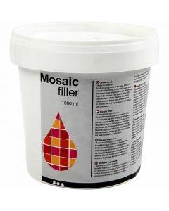 Mozaiekvoeg, wit, 1000 ml/ 1 emmer