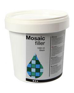 Mozaiekvoeg, zwart, 1000 ml/ 1 emmer