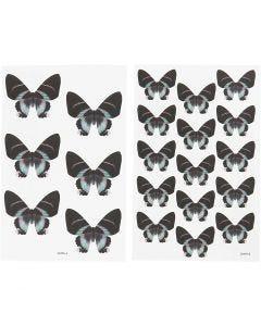Stickers, 9x14 cm, afm 4x3,5 cm, 4 div vellen/ 1 doos