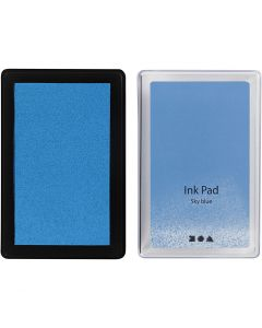 Stempelinkt, H: 2 cm, afm 9x6 cm, hemelsblauw, 1 stuk