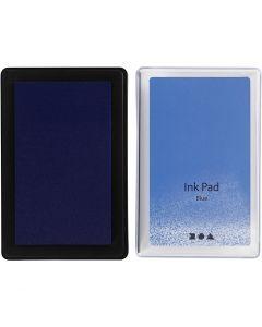 Stempelinkt, H: 2 cm, afm 9x6 cm, blauw, 1 stuk