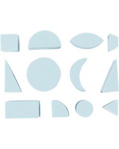 Foam Stempels, H: 25 mm, afm 15-30 mm, 12 stuk/ 1 doos