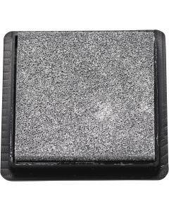 Inktkussen, afm 40x40 mm, zilver, 1 stuk