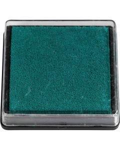 Inktkussen, afm 40x40 mm, groen, 1 stuk