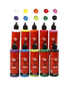 3D liner, diverse kleuren, 10x100 ml/ 1 doos