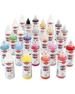 Window Color, diverse kleuren, 25x90 ml/ 1 doos