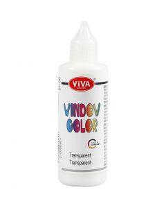 Window Color, transparant, 90 ml/ 1 fles